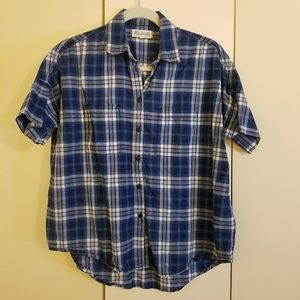Madewell Courier Shirt in Blue Plaid, Size Small